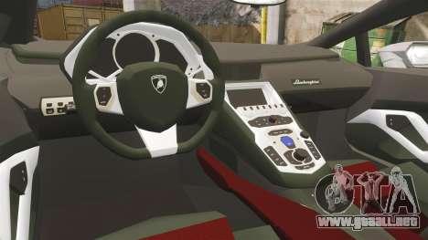 Lamborghini Huracan Hungarian Police [ELS] para GTA 4 vista interior
