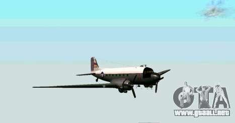 C-47 Dakota de la USAF para GTA San Andreas left
