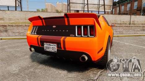 GTA V Vapid Dominator wheels v2 para GTA 4 Vista posterior izquierda