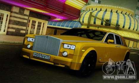 Rolls-Royce Phantom para vista lateral GTA San Andreas