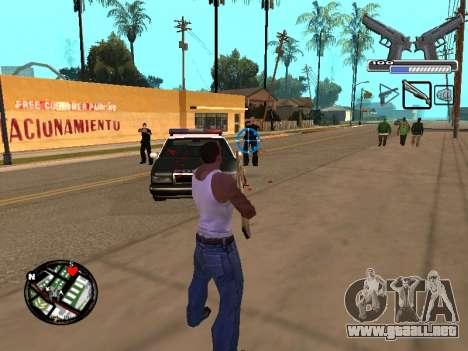 С-HUD por MoLoT para GTA San Andreas tercera pantalla