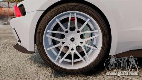Ford Mustang GT 2013 NFS Edition para GTA 4 vista hacia atrás