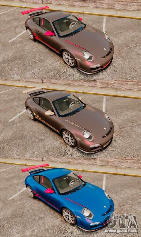 Porsche 997 Carrera GT3 RS para GTA 4 vista interior
