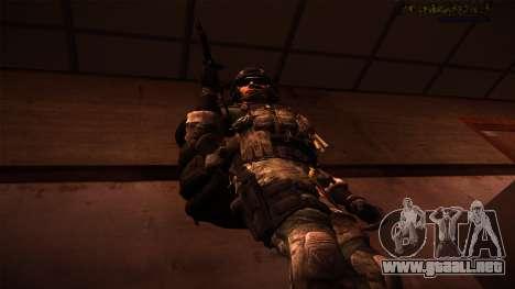 Ranger из De Call of Duty: Ghosts para GTA San Andreas tercera pantalla