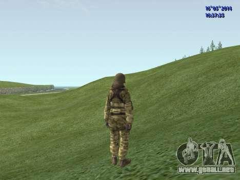 Militar en camuflaje para GTA San Andreas segunda pantalla