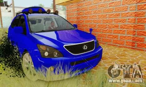Lexus RX400h 2010 para la visión correcta GTA San Andreas