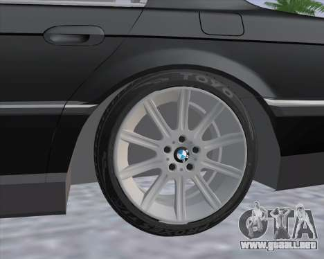 BMW 7-series E38 para GTA San Andreas vista posterior izquierda