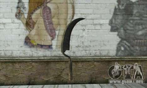 Vieja y oxidada martillo para GTA San Andreas segunda pantalla