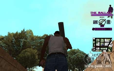 C-HUD The Ballas Gang para GTA San Andreas tercera pantalla