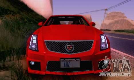 Cadillac CTS-V Sedan 2009-2014 para las ruedas de GTA San Andreas