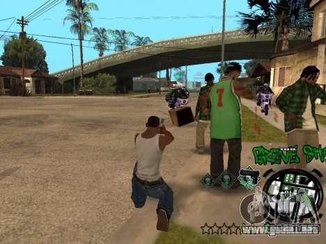 C-HUD Groove Street para GTA San Andreas novena de pantalla