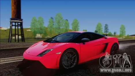 Lamborghini Gallardo LP570-4 Edizione Tecnica para GTA San Andreas vista posterior izquierda