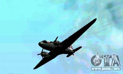 C-47 Dakota de la USAF para visión interna GTA San Andreas