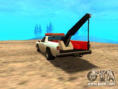 Nuevo Remolque (Picador) para GTA San Andreas vista posterior izquierda