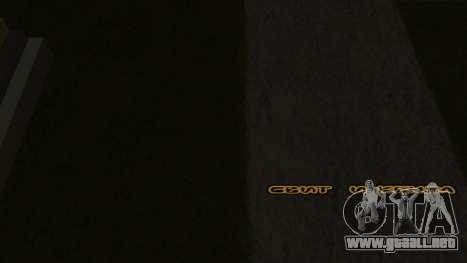 Fuente nueva V.2 para GTA San Andreas quinta pantalla