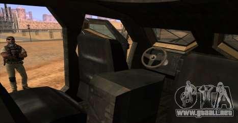 M-ATV из de Call of Duty: Ghosts para la vista superior GTA San Andreas