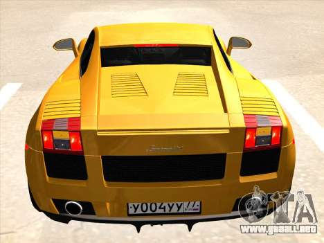 Lamborghini Gallardo para la visión correcta GTA San Andreas