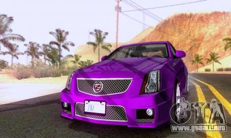 Cadillac CTS-V Sedan 2009-2014 para GTA San Andreas vista posterior izquierda