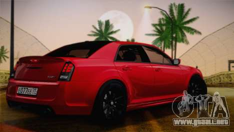 Chrysler 300 SRT8 Black Vapor Edition para GTA San Andreas vista hacia atrás