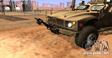 M-ATV из de Call of Duty: Ghosts para GTA San Andreas vista posterior izquierda