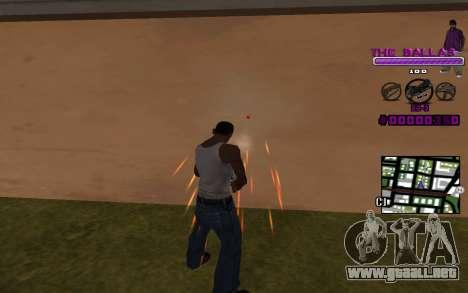 C-HUD The Ballas Gang para GTA San Andreas segunda pantalla
