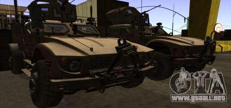 M-ATV из de Call of Duty: Ghosts para vista inferior GTA San Andreas