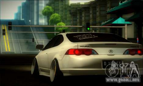 Acura RSX Stance para GTA San Andreas vista hacia atrás