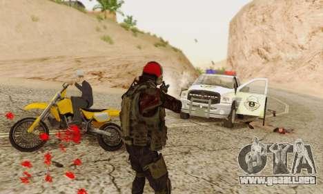 Blood On Screen para GTA San Andreas quinta pantalla