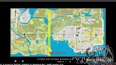 Mapa en tiempo real para GTA San Andreas