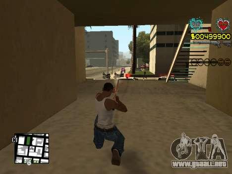 C-HUD Guns para GTA San Andreas novena de pantalla