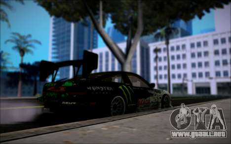Nissan 240SX Monster Energy para GTA San Andreas vista posterior izquierda