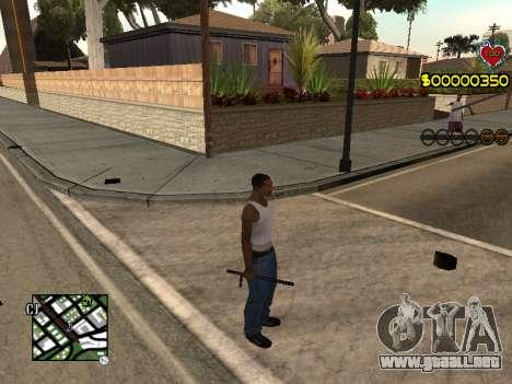 C-HUD Guns para GTA San Andreas segunda pantalla