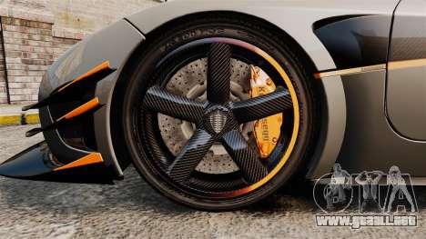 Koenigsegg One:1 [EPM] para GTA 4 vista hacia atrás