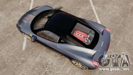 Ferrari 458 Italia para GTA 4 visión correcta