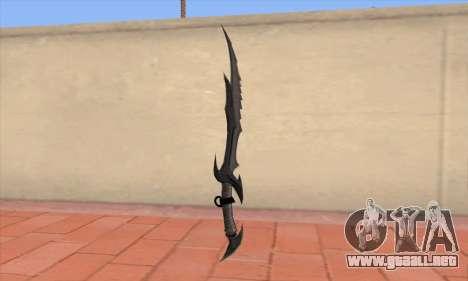 La espada de Skyrim para GTA San Andreas segunda pantalla