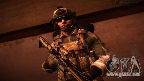 Ranger из De Call of Duty: Ghosts para GTA San Andreas sucesivamente de pantalla