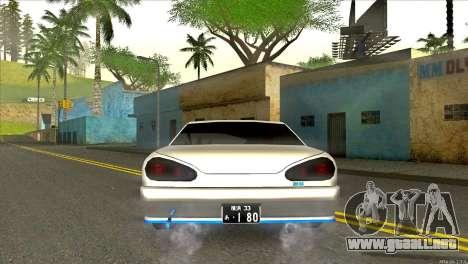 Elegy Neli para GTA San Andreas vista posterior izquierda