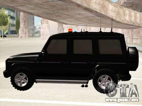 Mercedes-Benz G500 para la visión correcta GTA San Andreas