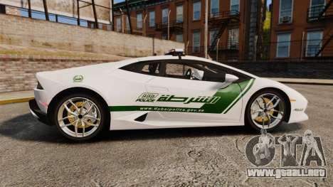 Lamborghini Huracan Cop [ELS] para GTA 4 left