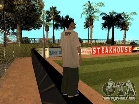 La piel Trazador GPF Equipo para GTA San Andreas tercera pantalla