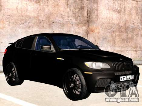 BMW X6 Hamann para vista inferior GTA San Andreas