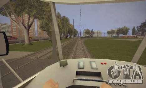 Tatra T3SU para GTA San Andreas vista hacia atrás