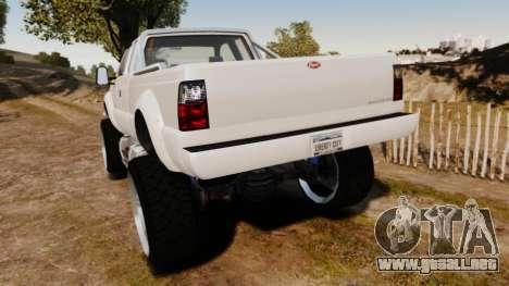 GTA V Vapid Sandking XL wheels v1 para GTA 4 Vista posterior izquierda