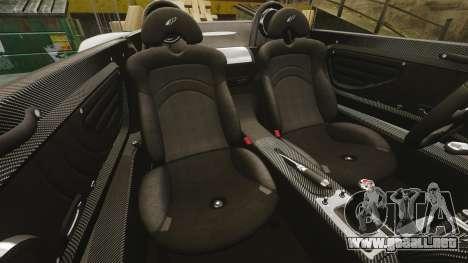 Pagani Zonda C12 S Roadster 2001 PJ3 para GTA 4 vista lateral