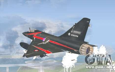 Dassault Mirage 2000-C para GTA San Andreas left