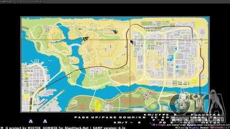 Mapa en tiempo real para GTA San Andreas tercera pantalla