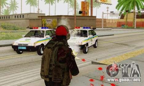 Blood On Screen para GTA San Andreas sucesivamente de pantalla