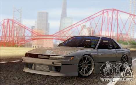 Nissan Silvia S13 Vertex para GTA San Andreas vista posterior izquierda