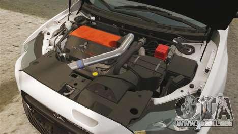 Mitsubishi Lancer Evolution X FQ400 (Cor Rims) para GTA 4 vista interior