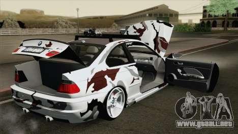BMW M3 E46 Camo para visión interna GTA San Andreas